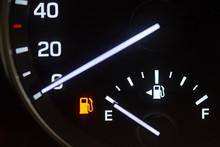 Empty Fuel Tank Sign
