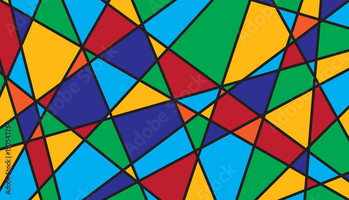 Fotomural  Abstract geometric stained glass background