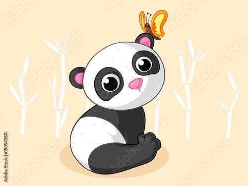 90b99255b0937d Niedlicher Comic Panda - Buy this stock vector and explore similar ...