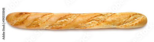 Foto auf Gartenposter Brot french baguette isolated on white background