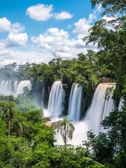 Fototapeta Wodospad Iguazu Falls (Iguacu Falls) on the border of Argentina and Brazil.