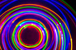 canvas print picture - Neon LED long exposure on black background