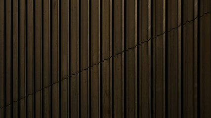Brown metal lines on the wall