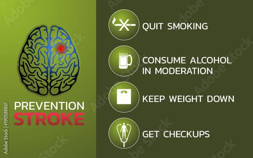 Carta da parati Prevention for stroke icon design, infographic health, medical infographic