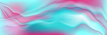 Holographic Foil Neon Trend Wavy Abstract Background