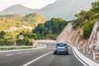 Road, highway in the Balkan Mountains, Montenegro.