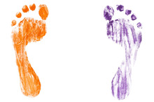Colorful Baby's Footprints Iso...