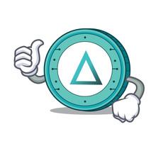 Thumbs Up Salt Coin Character Cartoon