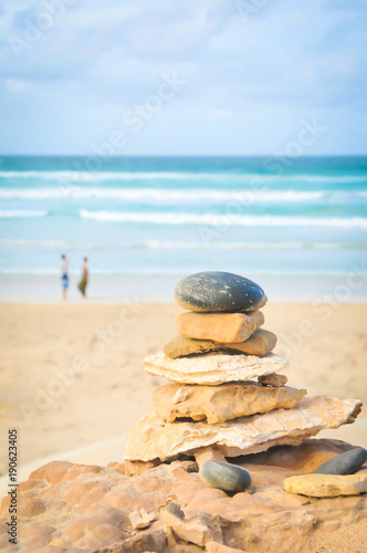 Tuinposter Stenen in het Zand Balance your life