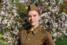 Pretty Soviet Female Soldier I...