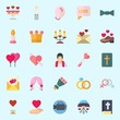 icons set about Wedding. with bible, wedding arch, crown, wedding cake, bow tie and candle