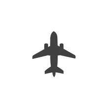 Airplane Icon Vector Flat