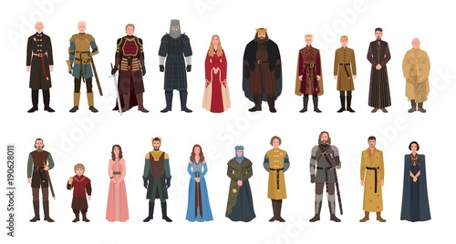 Photo  Bundle of Game of Thrones novel and TV series male and female fictional characters