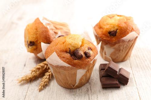 Stampa su Tela muffin with chocolate chip