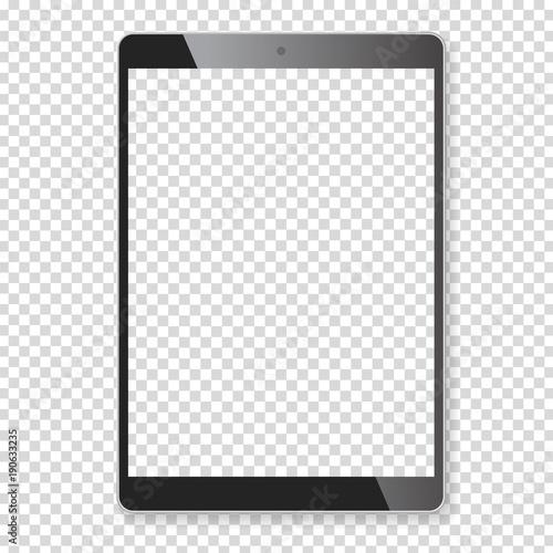 Carta da parati Realistic tablet portable computer mockup