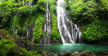 Jungle Waterfall Cascade In Tr...