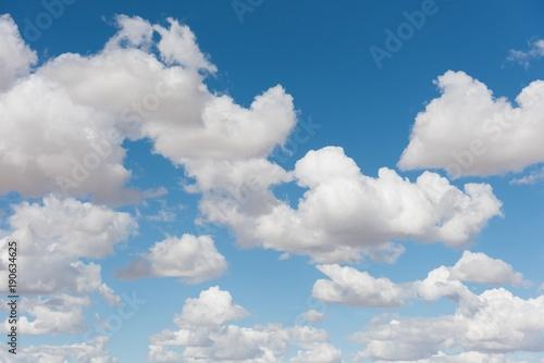 Poster Ciel Cumulus clouds against blue sky