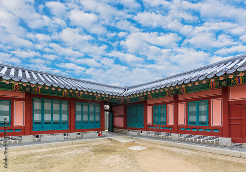Gyeongbokgung, Palace grounds in Seoul, South Korea. Poster