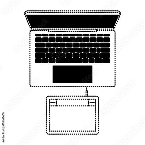 desktop computer draw keyboard digital design screen