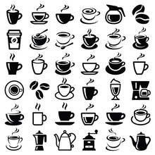 Coffee Icon Collection - Vecto...