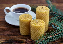 Candle Made Of Natural Wax