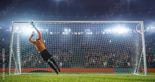 Fotografía Soccer goalkeeper in action on the stadium