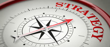 Strategy Concept. Compass Red ...