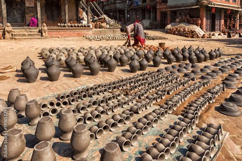 Staande foto Nepal Pottery Square, Bhaktapur, Nepal