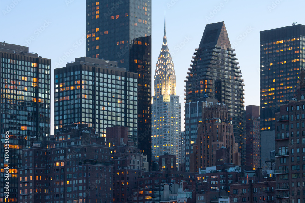 Fototapety, obrazy: Skyline of midtown Manhattan in New York City