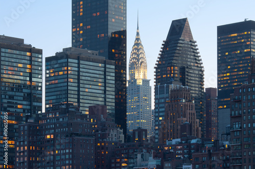 Tuinposter New York City Skyline of midtown Manhattan in New York City
