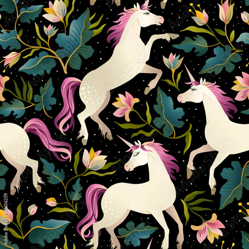 seamless-pattern-with-beautiful-unicorns-vector-magic-background-for-kids-design