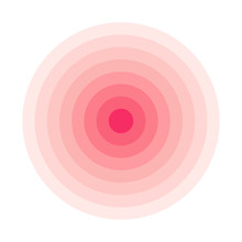 Red Concentric Rings. Epicente...