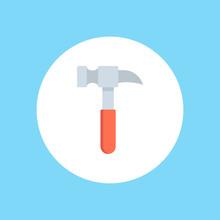 Hammer Flat Vector