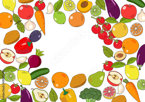 Different Types Of Fresh Fruits Stock Vector - Illustration of vitamin,  path: 81169300