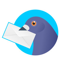 A Post Pigeon With An Envelope...