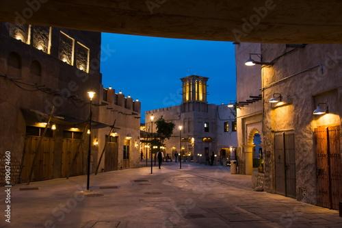 DUBAI, UNITED ARAB EMIRATES - JANUARY 30, 2018: Al Fahidi Histor
