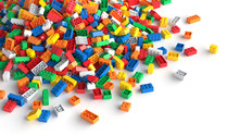Pile Of Colored Toy Bricks On ...