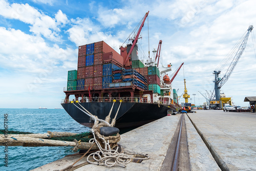 Valokuva  container,container ship in import export and business logistic