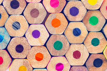 Fototapeta Do przedszkola Colored pencils for drawing, background