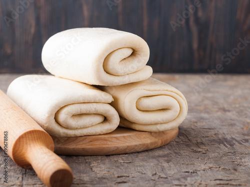 Valokuva Puff pastry dough.