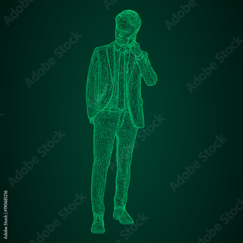 Fototapeta  Male businessman in a standing and talking on the phone