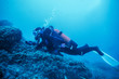 practice of diving in the sea