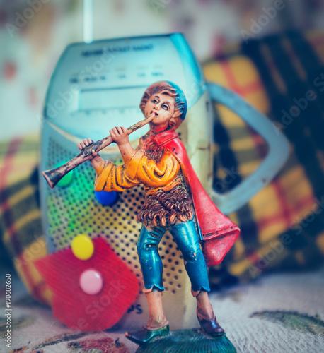Poster Imagination Musicista che suona il flauto