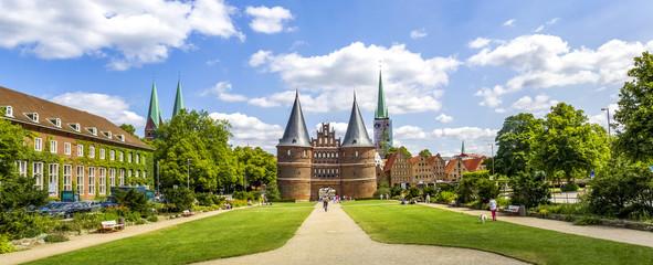 Hansestadt, Lübeck, Holstentor, Panorama,