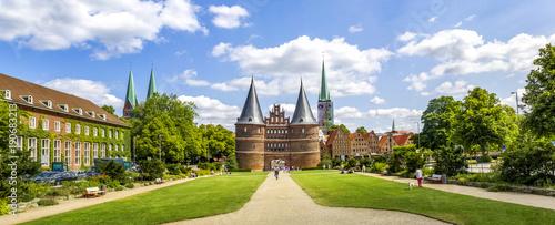 Fotografia  Hansestadt, Lübeck, Holstentor, Panorama,