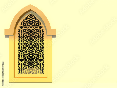 Islamic Interior Design Of The Mosque Islamic Window With