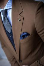 Detail Of Man In Suit Posing