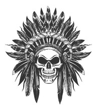 Native American Indian Skull I...
