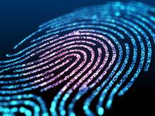 Digital Fingerprint On Black S...