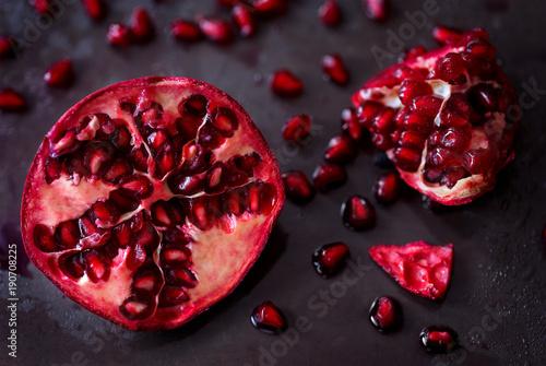 Fresh Cut Pomegranate Canvas Print